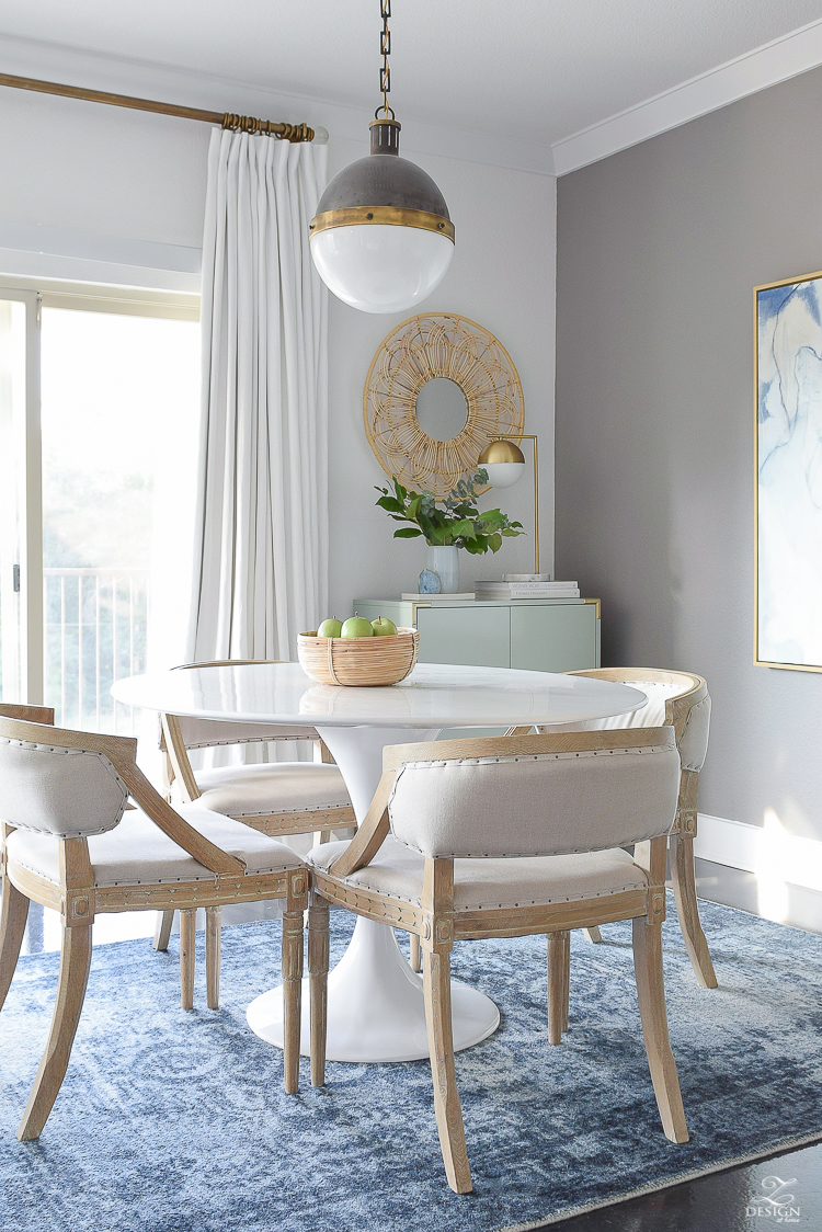 Boho Chic Summer Dining Room Tour - ZDesign At Home