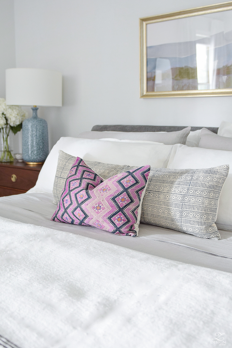 Chinese Wedding Blanket & globally inspired pillows