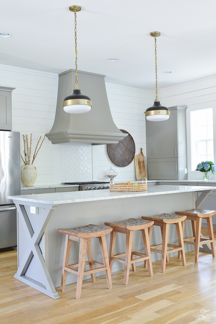 coastal inspired kitchen in 30A - beach rental home