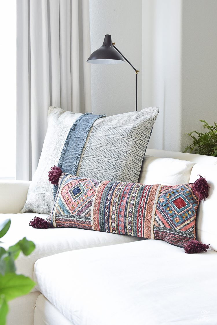Adding a pop of color and texture late summer that will take you into fall decor