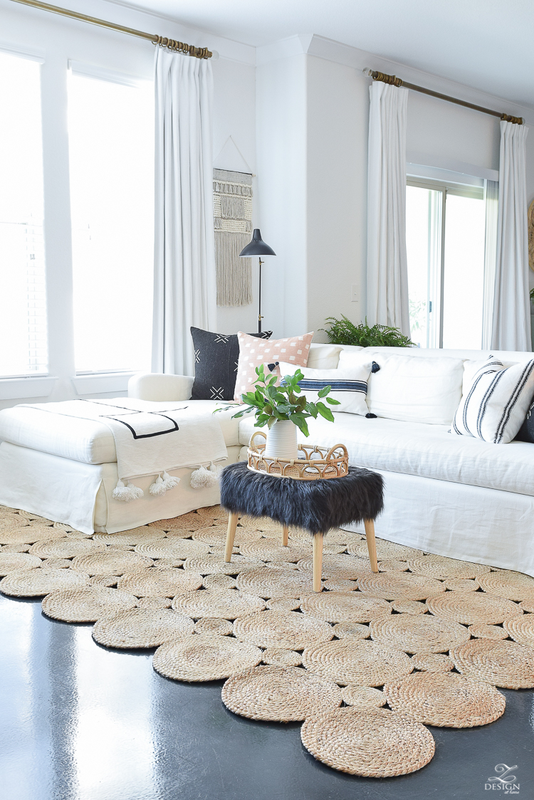 Best natural woven rugs - beautiful boho chic area rug
