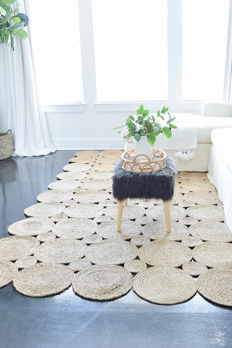 The best natural woven rugs - trendy boho chic rug