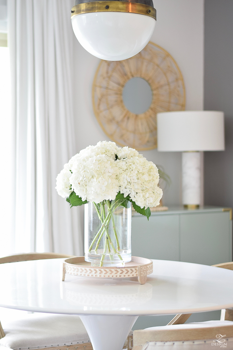 Late Summer Refresh Tips & Tour - White Hydrangeas