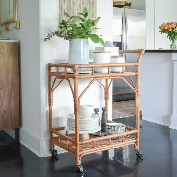 ZDesign At Home - How to style a bar cart with kitchen essentials