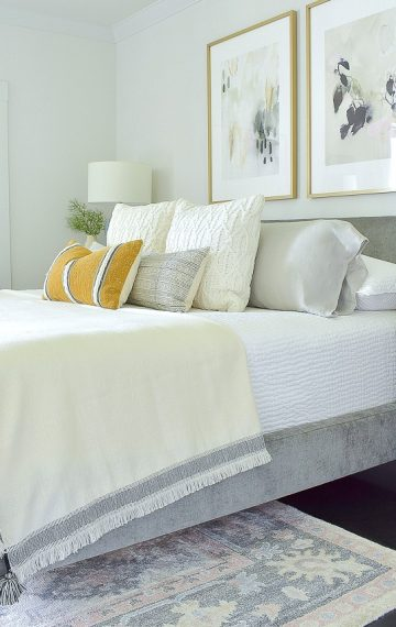 Early Fall Bedroom – Harvest Colors & Cable Knits