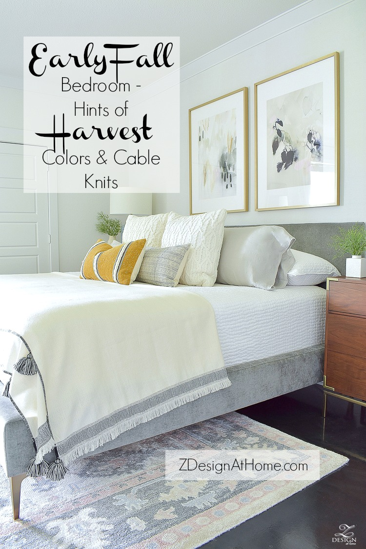 Early Fall Bedroom - Hints of Harvest Colors & Cable Knits