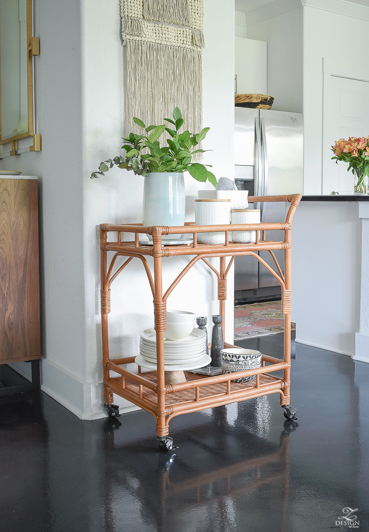 Bar Cart Styling Tips - ZDesign At Home