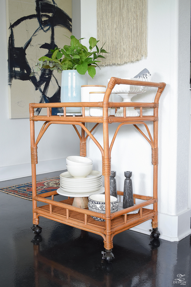 How to style a bar cart kitchen essential overflow - ZDesign At Home