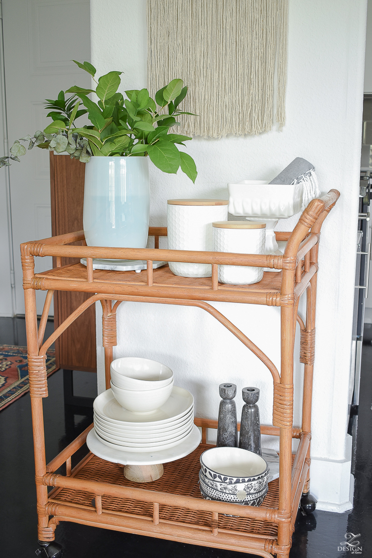How to style a bar cart - ZDesign At Home
