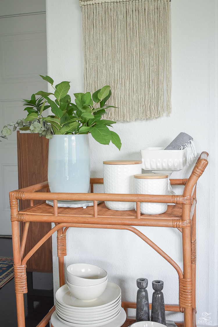 Tips for Bar Cart Styling - ZDesign At Home
