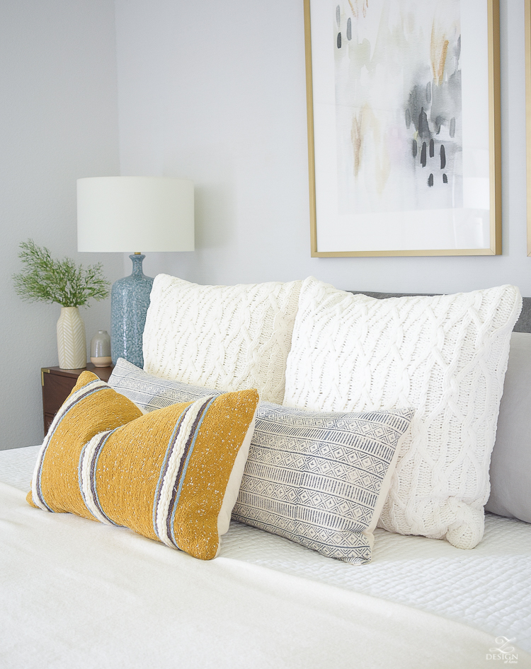 Early fall bedroom tour - cable knits and harvest colors