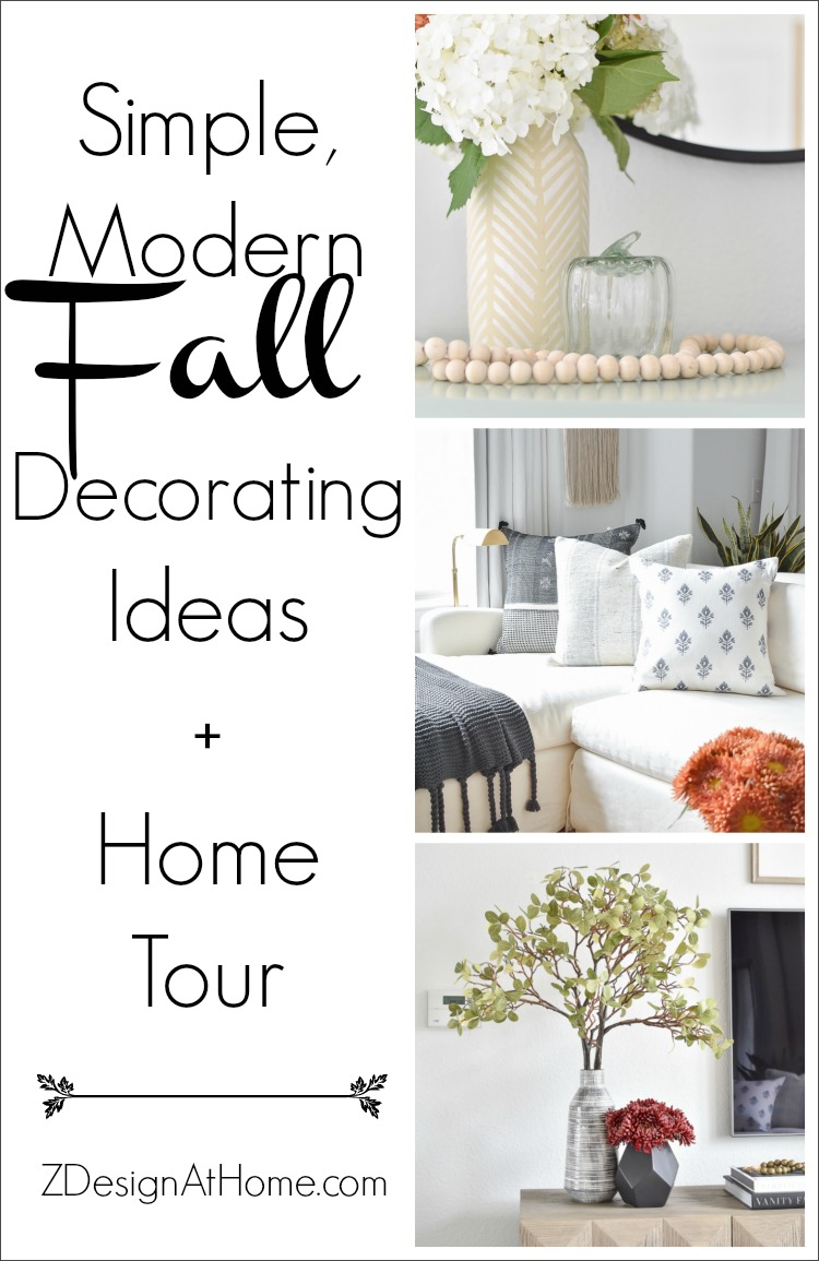 Simple, Modern Fall Decorating Ideas