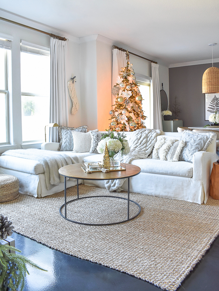 Styled For The Season Christmas Tour - ZDesign At Home Christmas Living Room