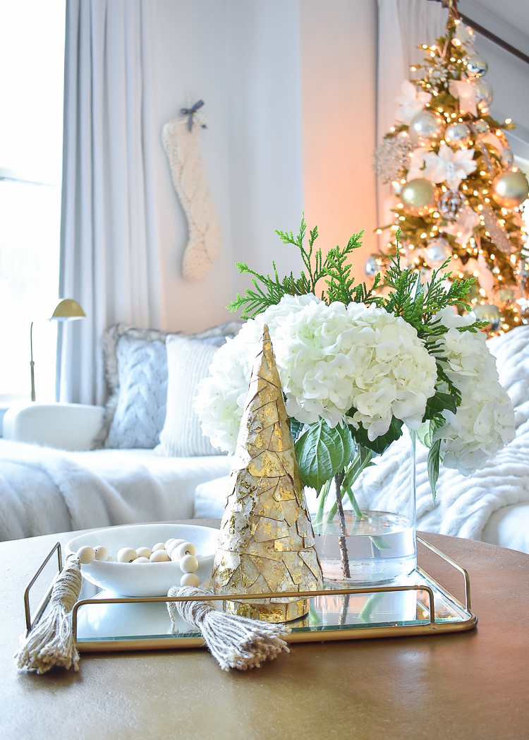 Christmas Coffee Table Tray Decor