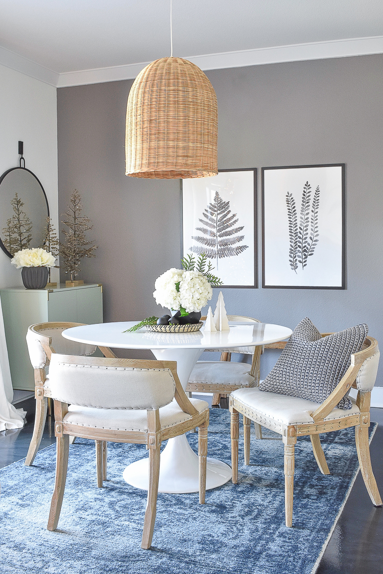 Styled For The Season - Modern Christmas Dining Room