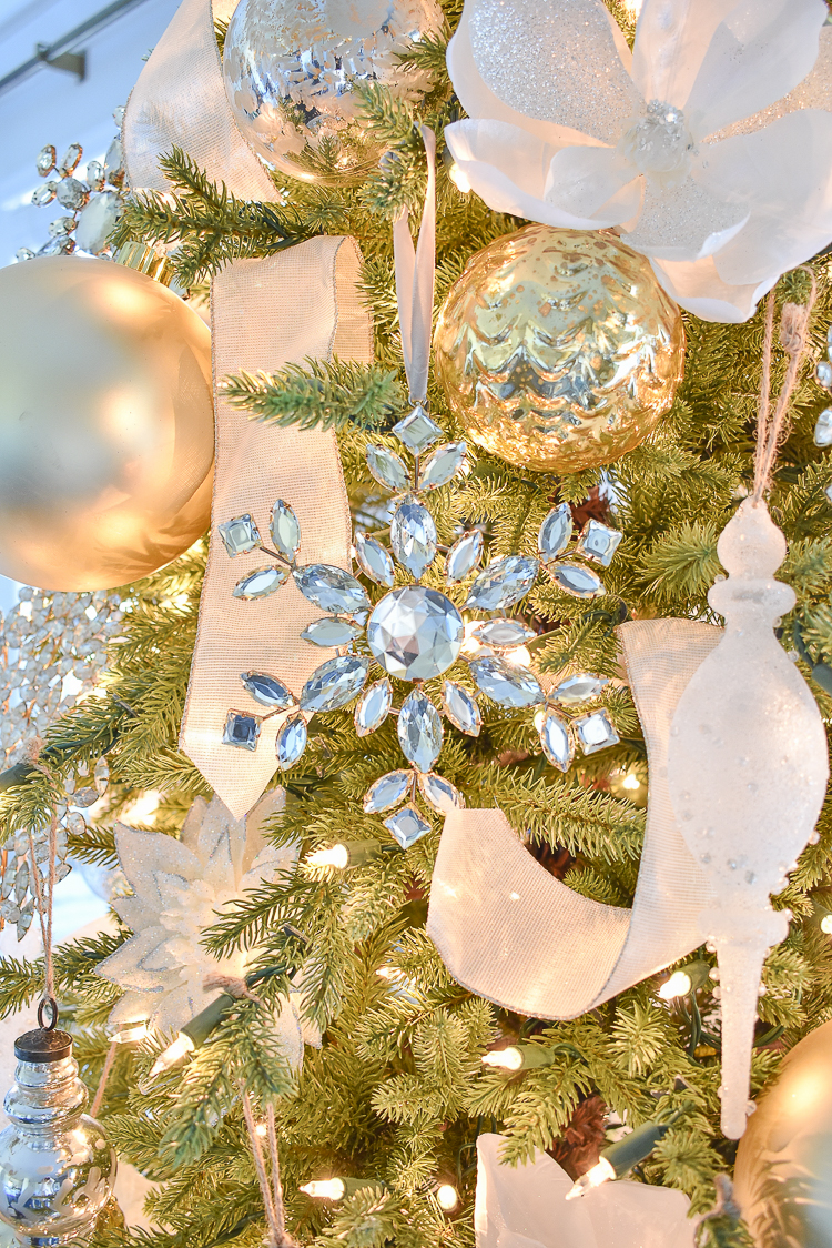 Styled For The Season Christmas Home Tour - Crystal ornaments