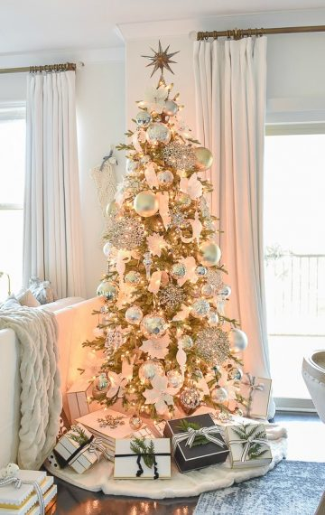Styled For The Season Christmas Tour – Neutral Christmas Living & Dining Room