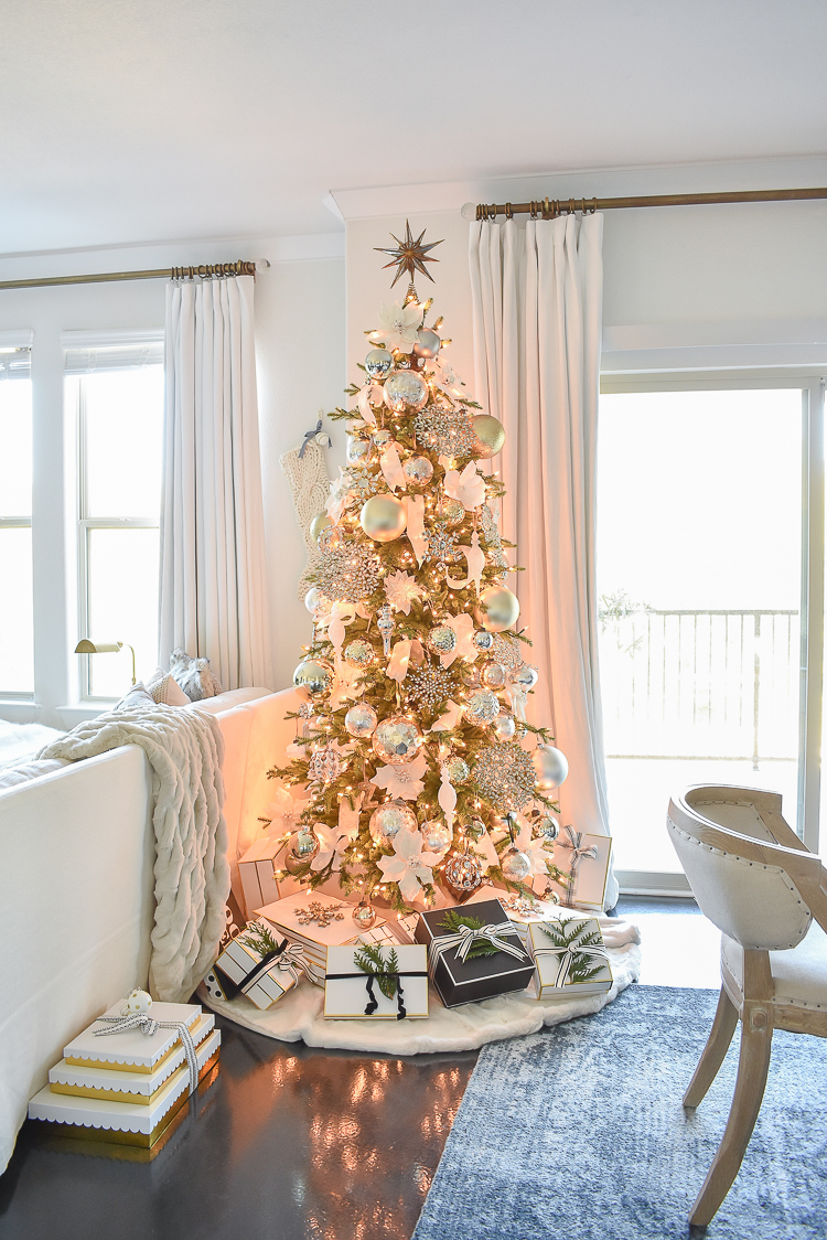 Styled For The Season Christmas Tour - gold, white, crystal glam Christmas tree