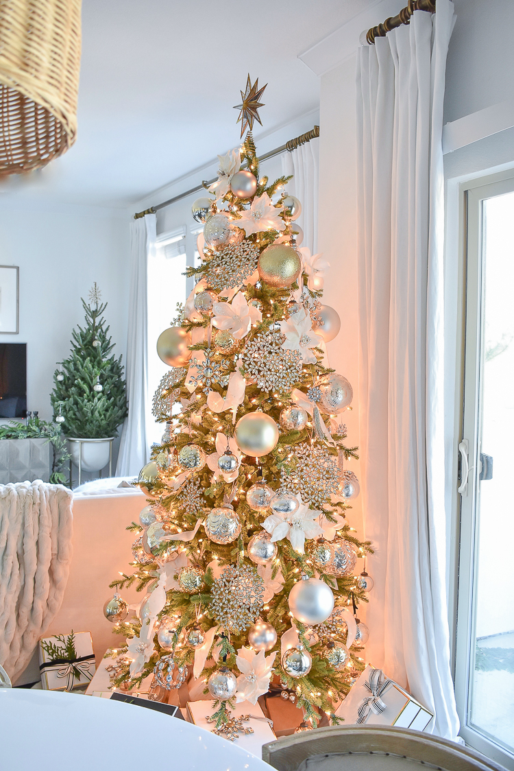 Styled For The Season Christmas Home Tour - White, Gold, Crystal Glam Tree