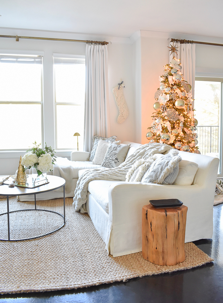 Styled For The Season Christmas Tour - Neutral Christmas Living Room