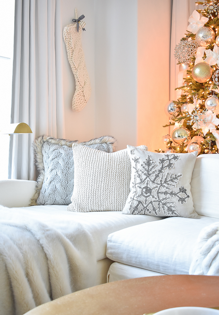 Styled For The Season Christmas Tour - Neutral Christmas pillows