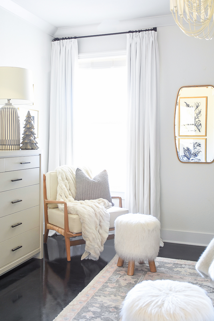 Boho Chic Neutral Christmas Bedroom Tour