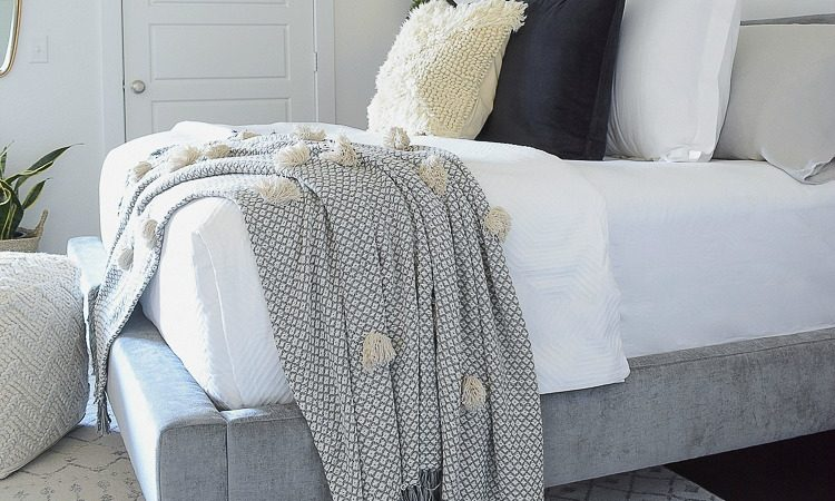 Vintage Chic Decor Done Modern - pom pom vintage inspired throw