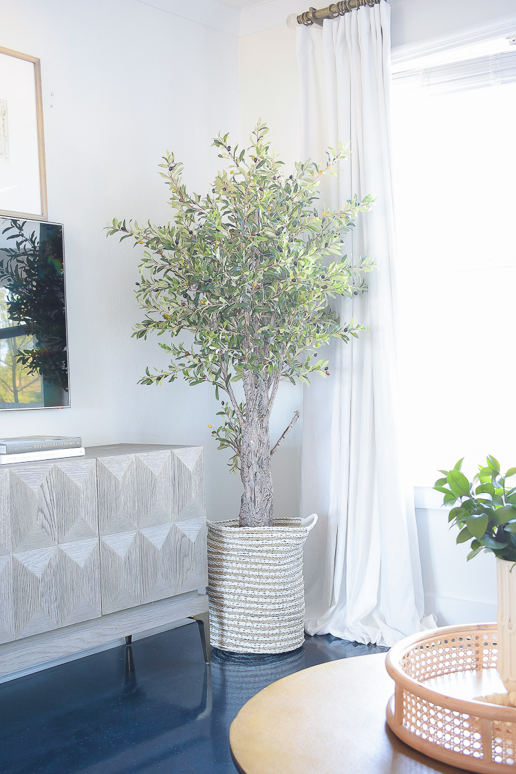 Creating a Cozy Winter Home Tips & Tour - Best Faux Olive Tree
