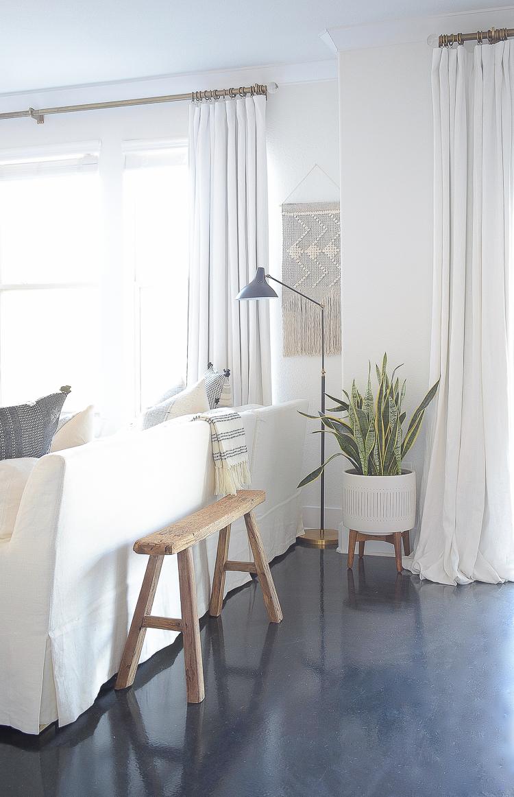 Creating a Cozy Winter Home - Boho Chic living room decor