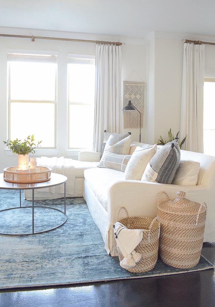 Creating a cozy winter home - boho chic living room design