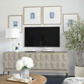 TV Gallery Wall Updates + Reveal - How to design a gallery wall around a TV
