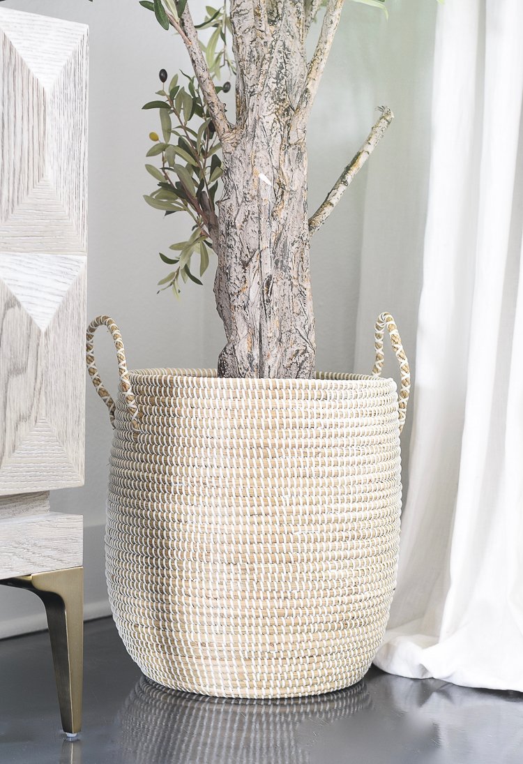 TV Gallery Wall Updates - Great plant basket