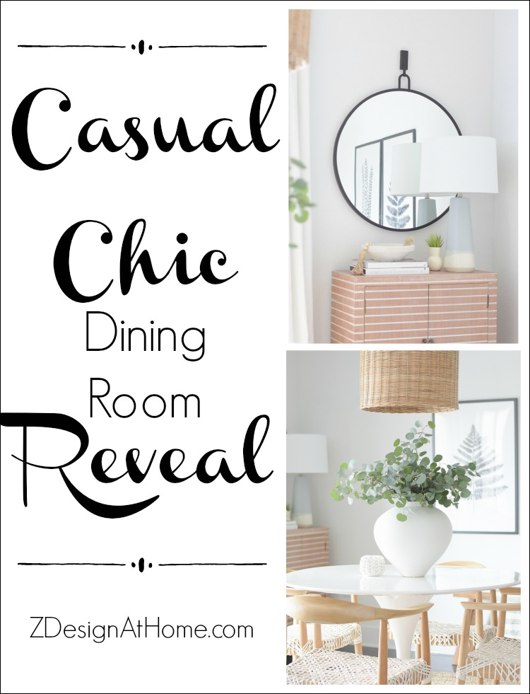 ZDesign At Home Casual Chic Dining Room Reveal - Boho Chic Dining Room
