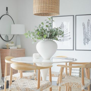 ZDesign At Home - Casual Chic Dining Room Reveal