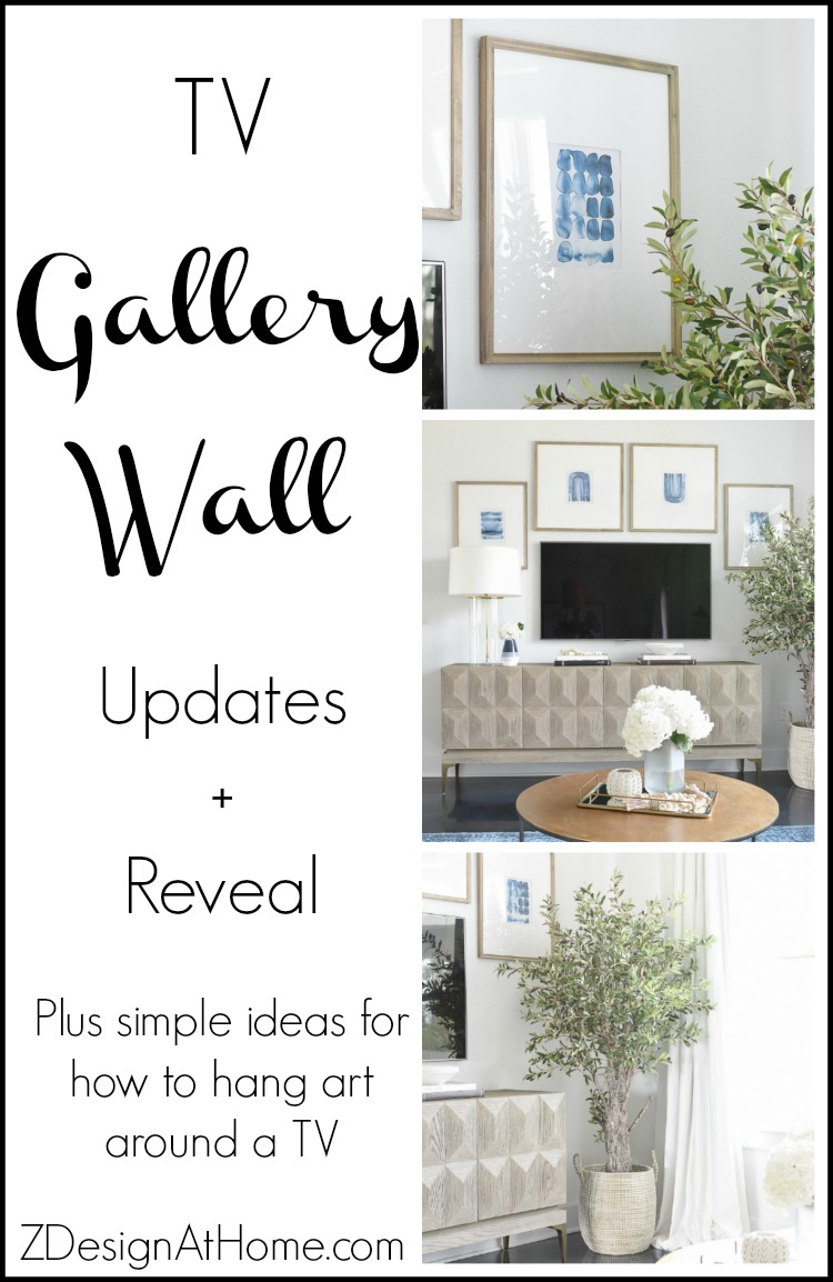 TV Gallery Wall Updates + Reveal Plus simple ideas for how to hang art around a TV