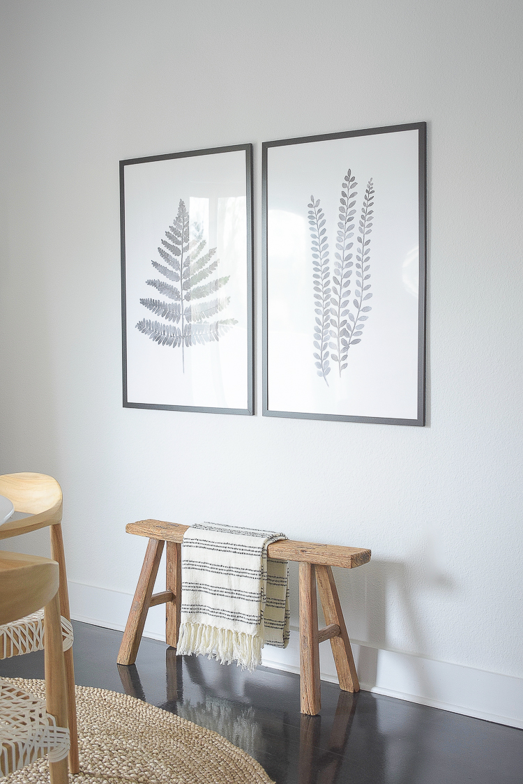 Casual Chic Dining Room Reveal - Fern Art Prints