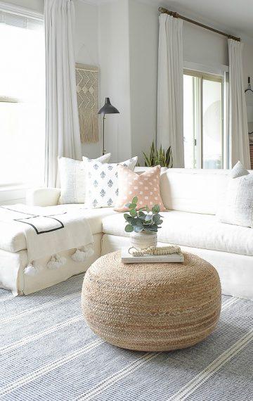 Light & Airy Spring Living Room Tour
