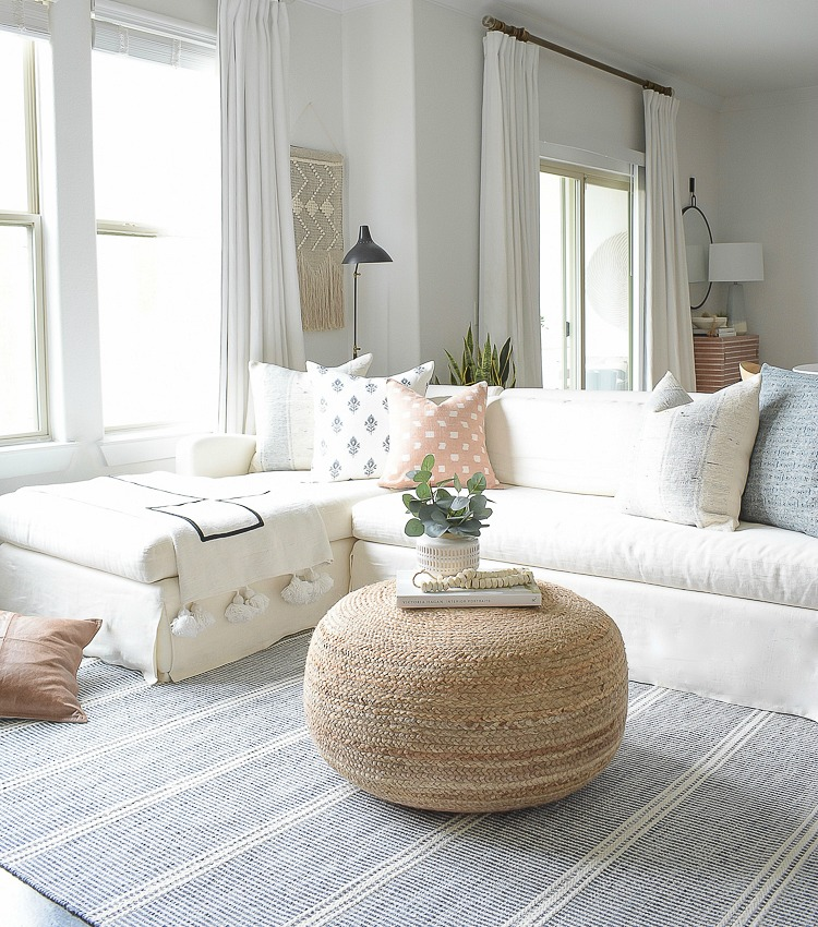My Light And Airy Living Room Transformation: Light & Airy Spring Living Room Tour
