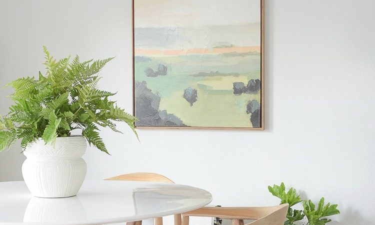 Best art pieces for spring & summer this year - blue, green, terra-cotta framed art on canvas