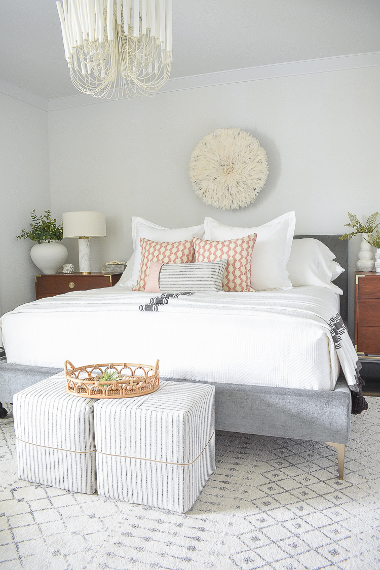 Styled for the season spring tour - boho chic spring bedroom tour