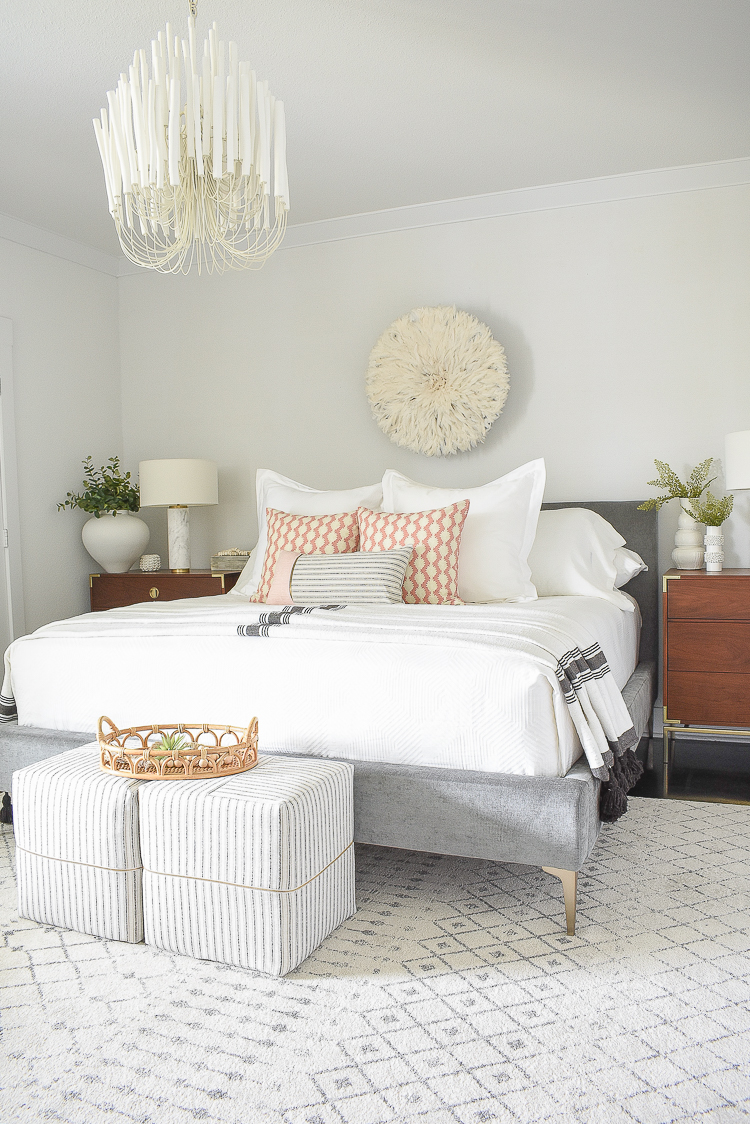 Styled for the season spring tour - Boho Chic Glam bedroom for spring and summer