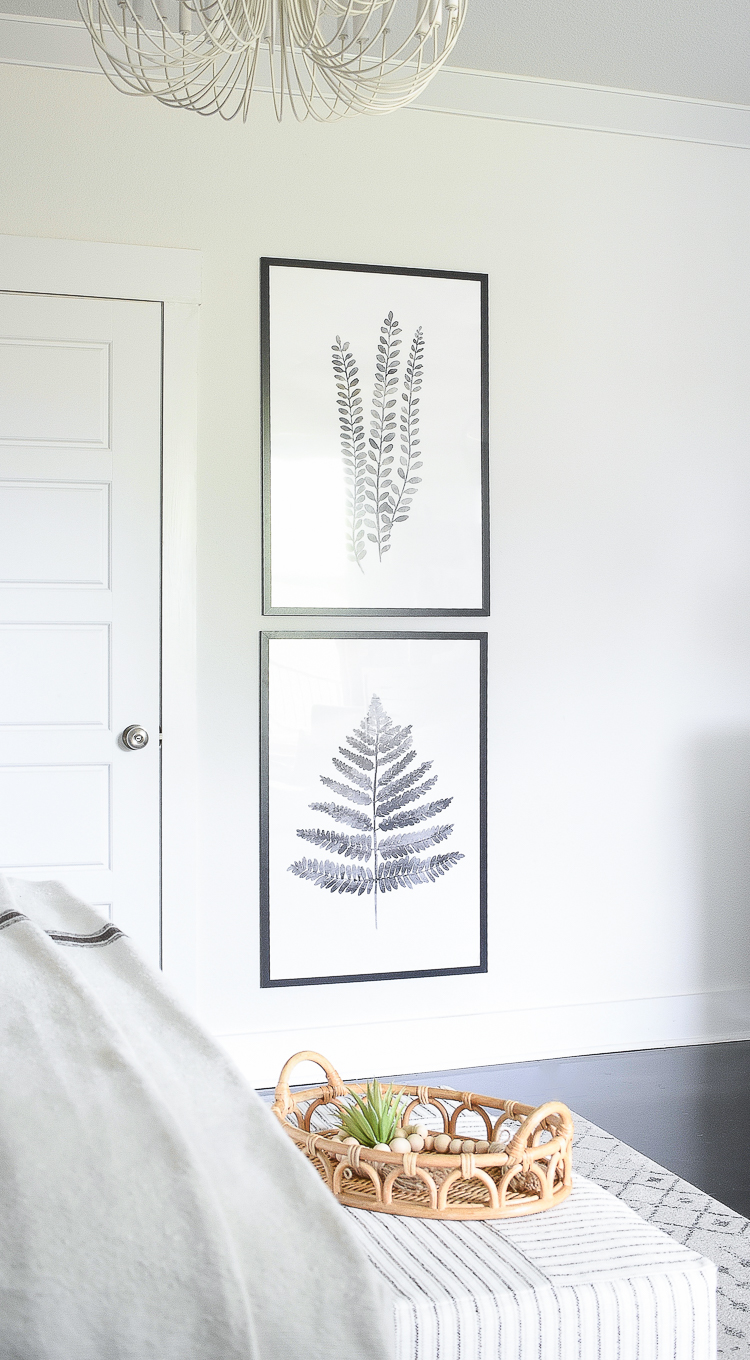 Styled for the season spring tour - black and white fern prints art