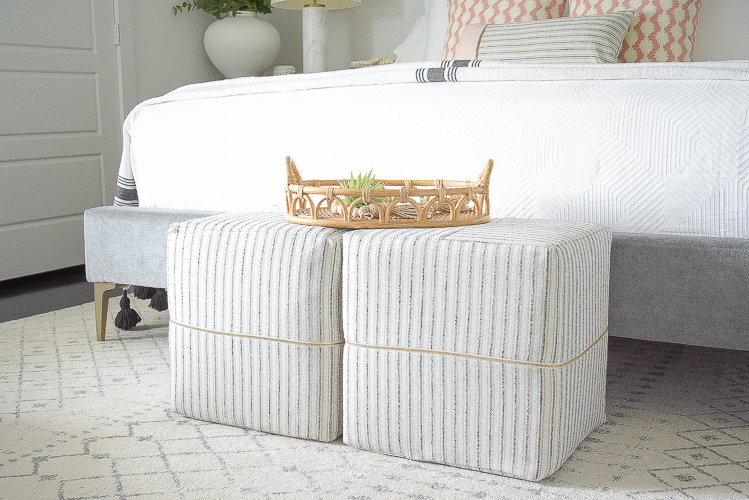 Styled for the season spring tour - tonic living cubes, ottomans 16x16