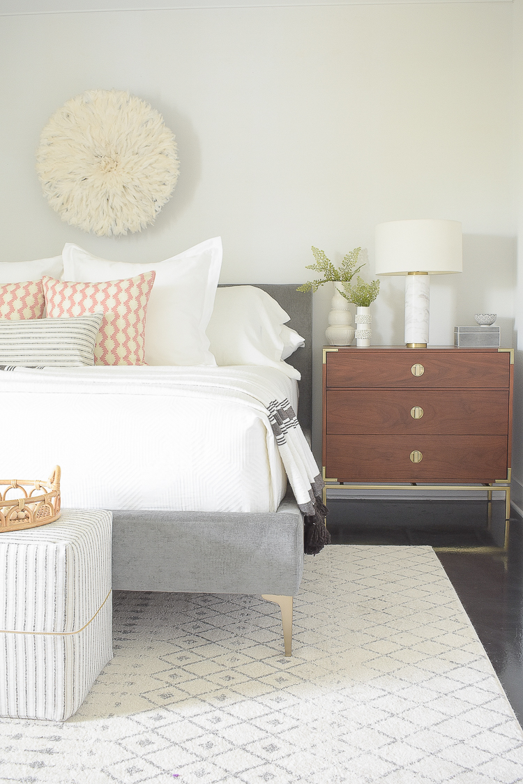 Styled for the season spring home tour - boho chic bedroom