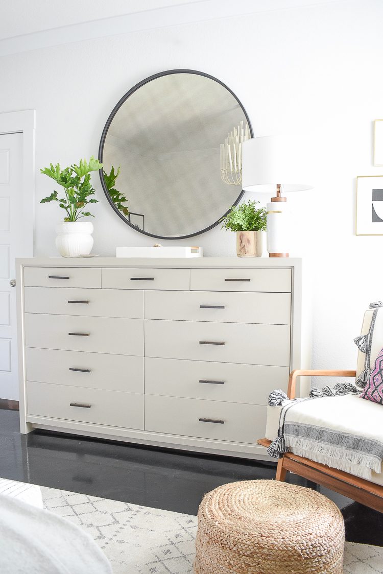 Styled for the season spring tour - oversized dresser - how to decorate your dresser