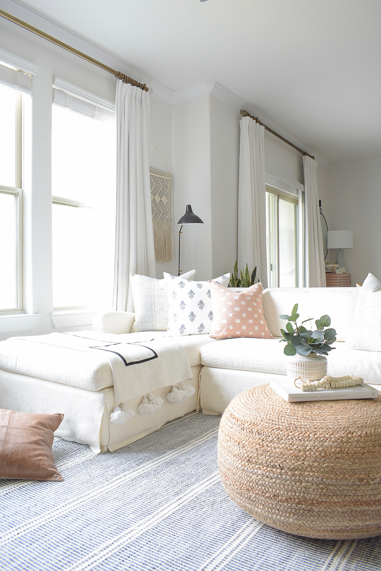 Light & Airy Spring Living Room Tour - Spring Pillow Collection ZDesign At Home
