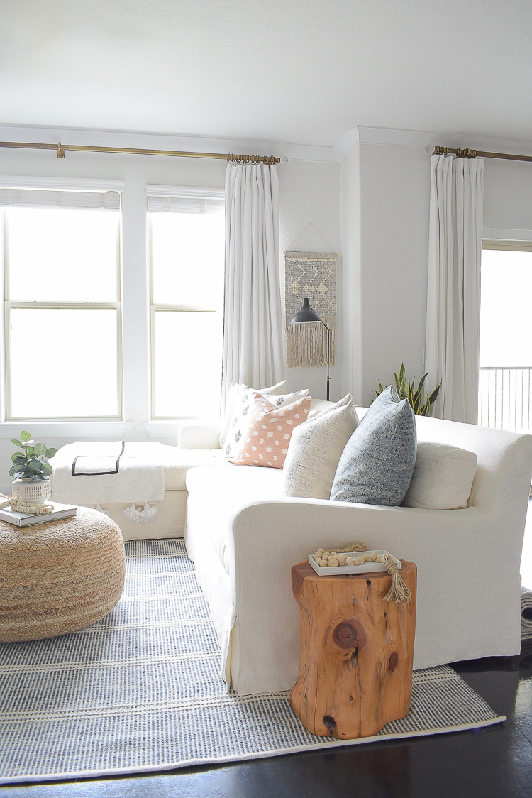 Light & Airy Spring Living Room Tour