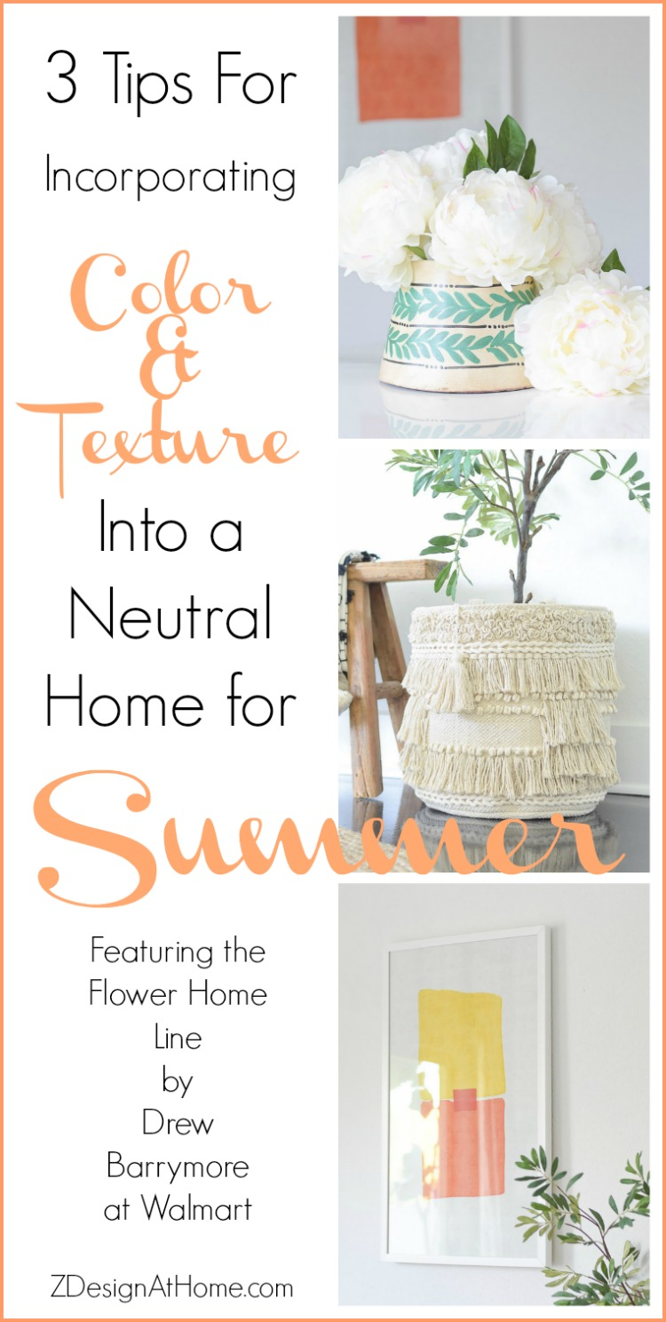 3 Tips For Incorporating Color & Texture Into A Neutral Summer Home