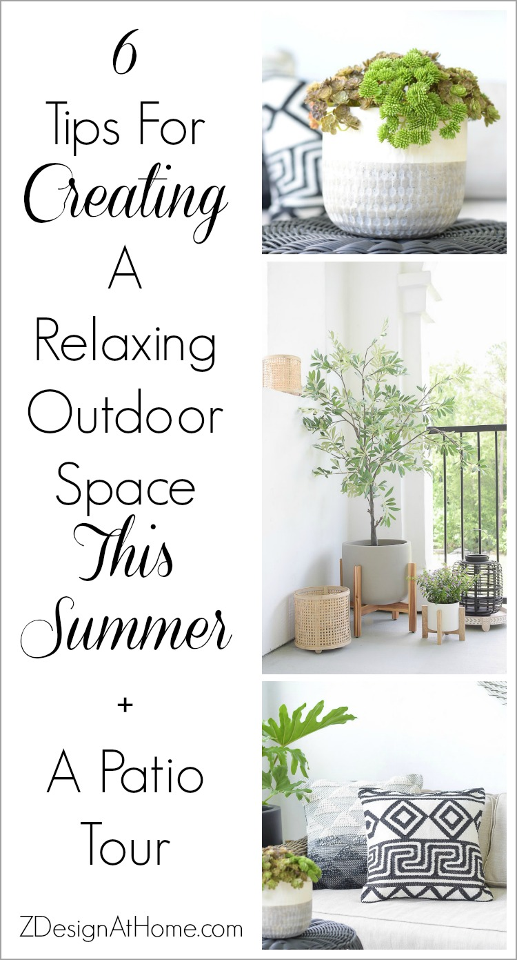 6 Tips For Creating A Relaxing Outdoor Space This Summer