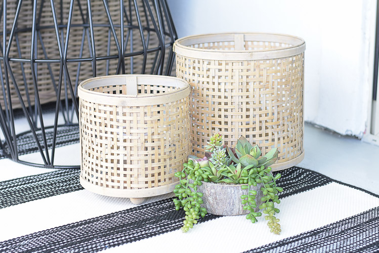 Tips For Creating A Relaxing Outdoor Space This Summer + A Patio Tour - rattan lanterns